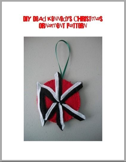 Dead Kennedys Logo Felt Christmas Ornament Pattern at Makerist - Image 1