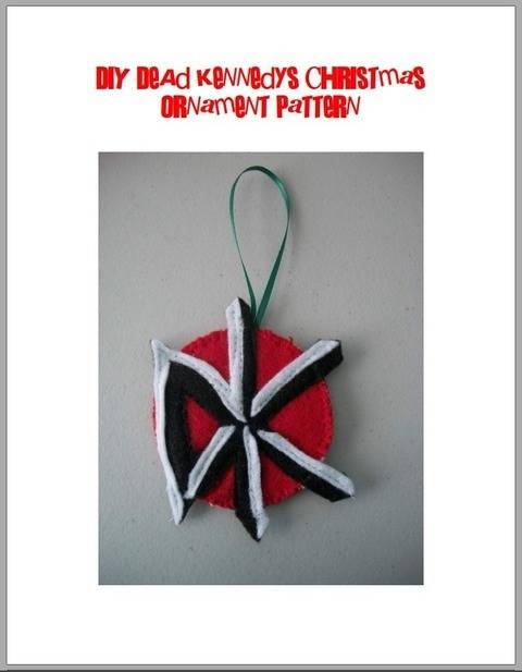 Dead Kennedys Logo Felt Christmas Ornament Pattern