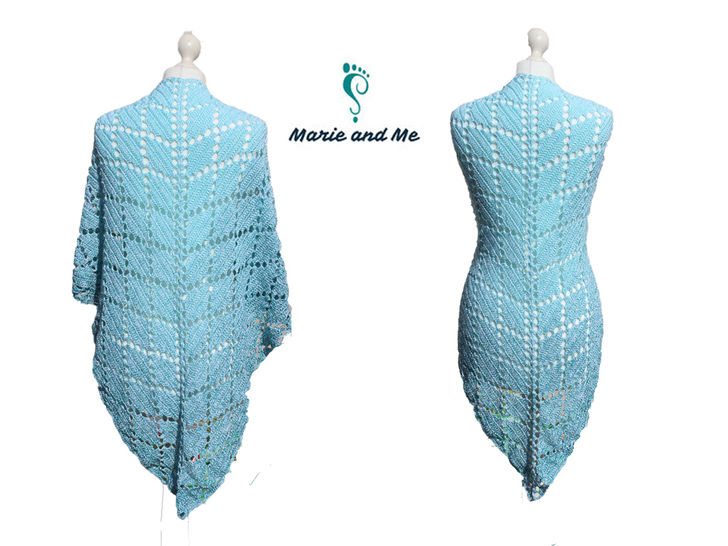 Aquamarin - triangular shawl at Makerist - Image 1