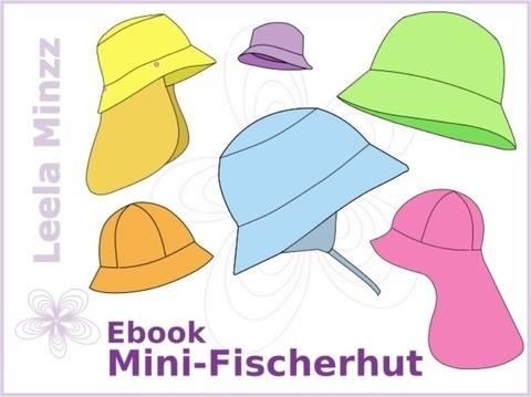 Mini-Fischerhut Gr.34 bis 54 + viele Extras, Schnittmuster und Anleitung bei Makerist