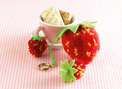 Erdbeeren Bastelanleitung