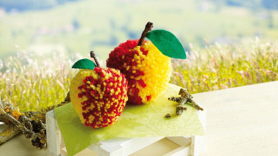 Rot-gelbe Äpfelchen Bastelanleitung bei Makerist - Bild 1