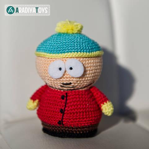 """Häkelanleitung für Eric Cartman aus """"South Park"""" bei Makerist"""
