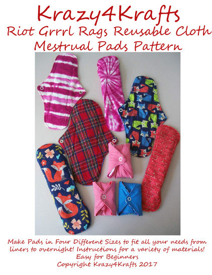 Riot Grrrl Reusable Cloth Menstrual Pads PDF Sewing Pattern at Makerist - Image 1
