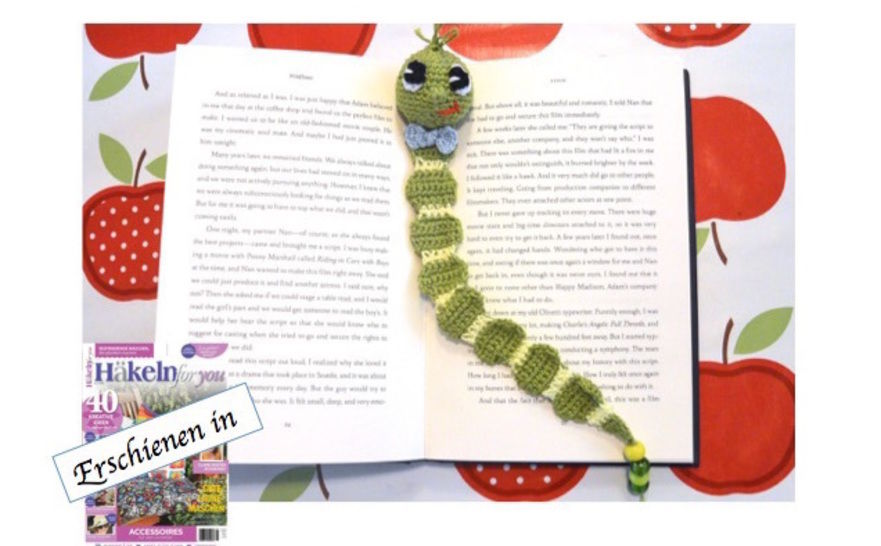 "E-Book ""Book Worm"" Bookmark at Makerist - Image 1"