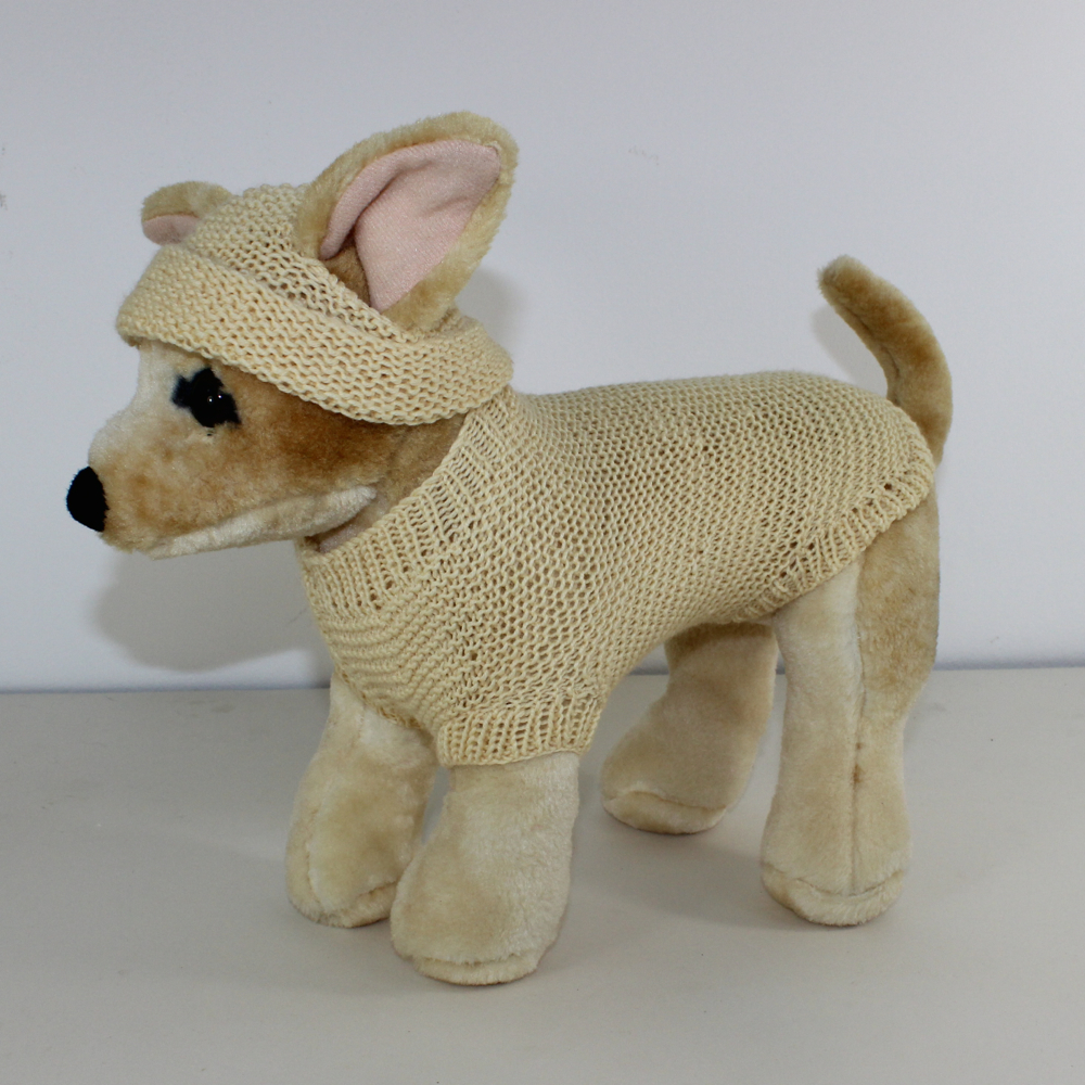 Small Dog 4 Ply Coat & Beanie Hat