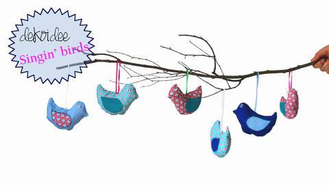 Frühlingsdeko Singin' Birds Nähanleitung und Schnittmuster bei Makerist