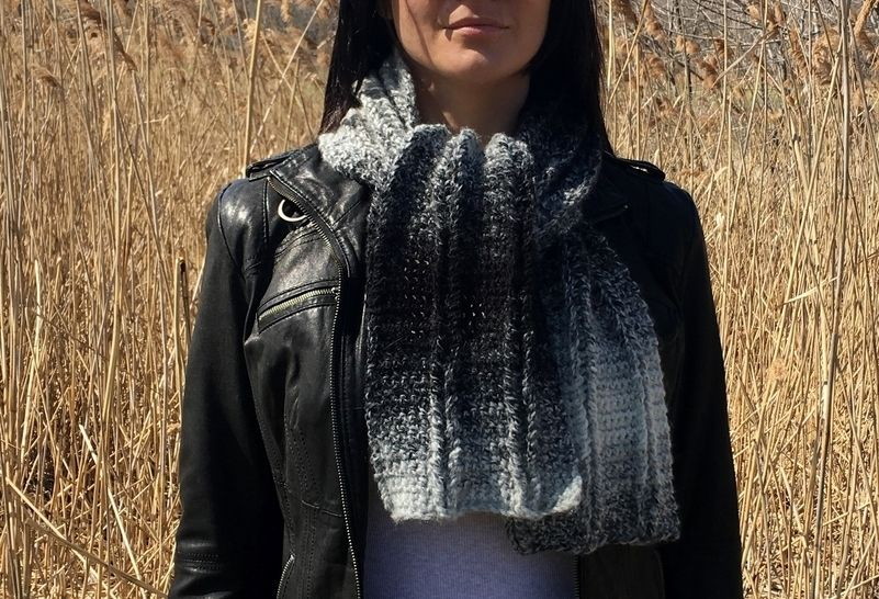 Easy Crochet Scarf Pattern PDF (Easy Laddered Scarf) at Makerist - Image 1