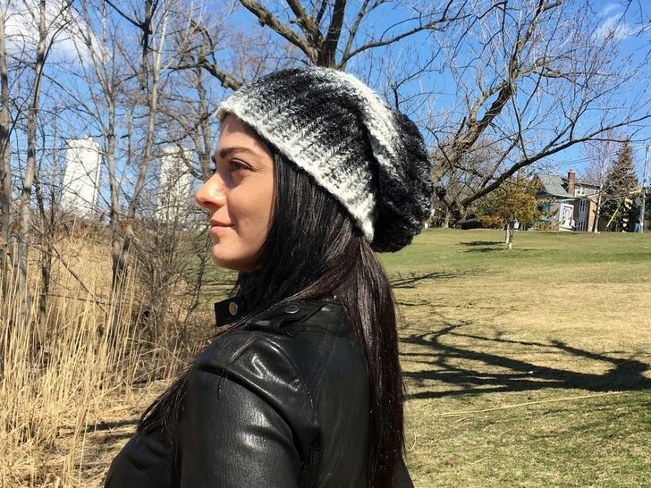 Slouchy Beanie Crochet Hat Pattern PDF (Slouchy-Slouch Hat) at Makerist - Image 1