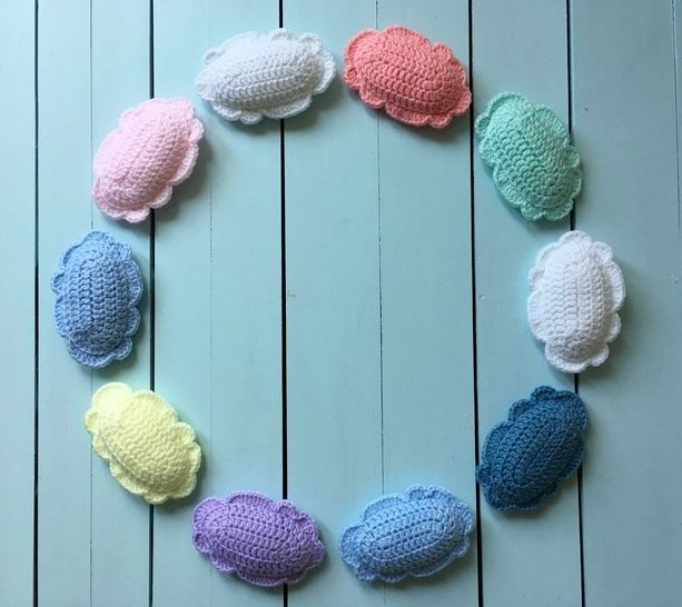 Crochet Clouds Pattern Garland PDF (Happy Clouds Banner) at Makerist - Image 1