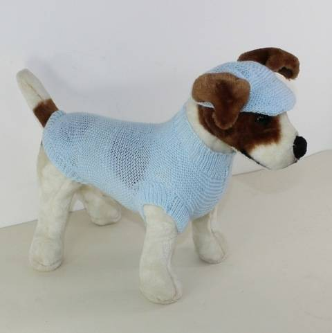 Small Dog 4 Ply Coat & Peak Cap