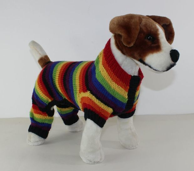 Dog Rainbow Stripe Onesie at Makerist - Image 1