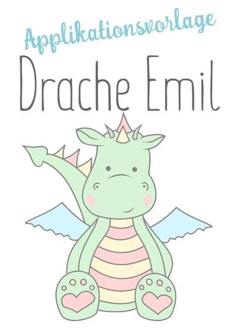 Applikationsvorlage Drache Emil mit Gewerbelizenz bei Makerist