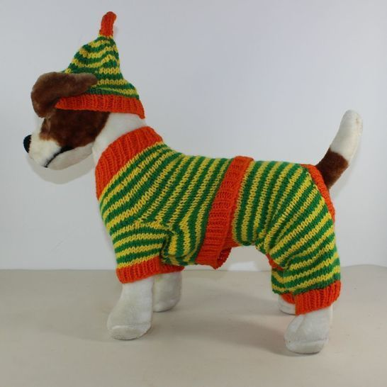 Dog Stripe Aran Pyjamas & Nightcap at Makerist - Image 1