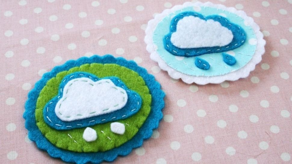 Nähanleitung Brosche Wolke aus Filz oder Baumwollstoff bei Makerist - Bild 1