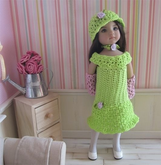 Primrose: crochet outfit for 32-34cm dolls at Makerist - Image 1