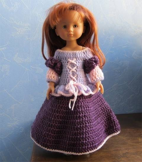 Princess Mary: crochet outfit for 32-33 cm dolls at Makerist