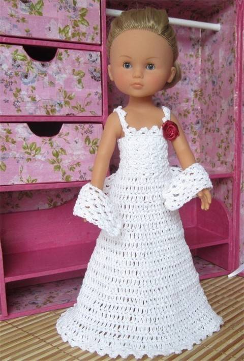 Special Day: crochet outfit for 32-33 cm dolls at Makerist