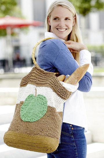 Shopper mit Bambusgriff Strickanleitung bei Makerist - Bild 1