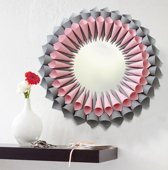 Blumiger Spiegelrahmen Bastelanleitung bei Makerist - Bild 1