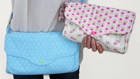 Nähanleitung Tasche Claire mit 3 Fächern E-Book bei Makerist