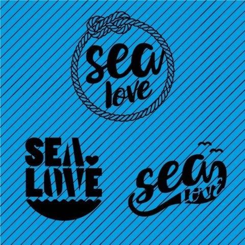 Plotterdatei »It's Nautical!« – Set Sea Love (3er)