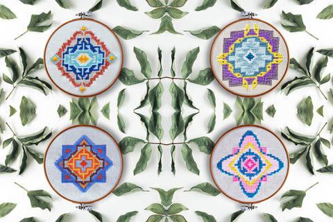 Geometrie Set Kreuzstich