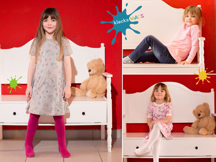 PDF Sewing Pattern for Girls' Basic Shirt and Dress with Sleeves - *Girly* at Makerist - Image 1