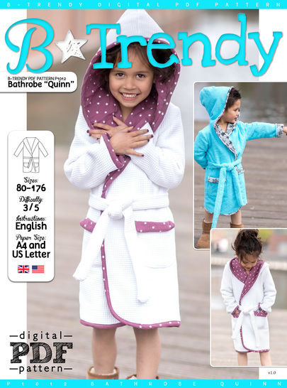 Bathrobe QUINN PDF Pattern + Tutorial at Makerist - Image 1