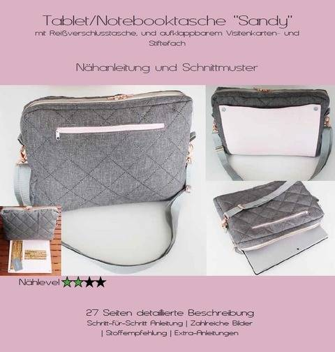 Ebook Notebooktasche/Tablettasche Sandy