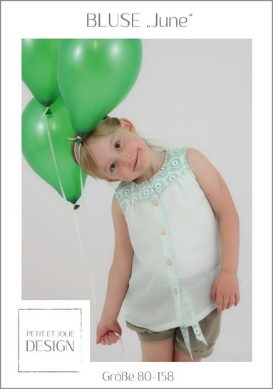 "BLUSE ""June"" Gr. 80-158 - Ebook ""Petit et Jolie Design"" bei Makerist - Bild 1"