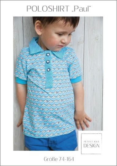 "POLOSHIRT ""Paul"" Gr. 74-164 - Ebook ""Petit et Jolie Design"" bei Makerist - Bild 1"