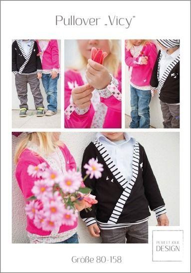 "PULLOVER ""Vicy"" Gr. 80-158 - Ebook ""Petitet Jolie Design"" bei Makerist - Bild 1"