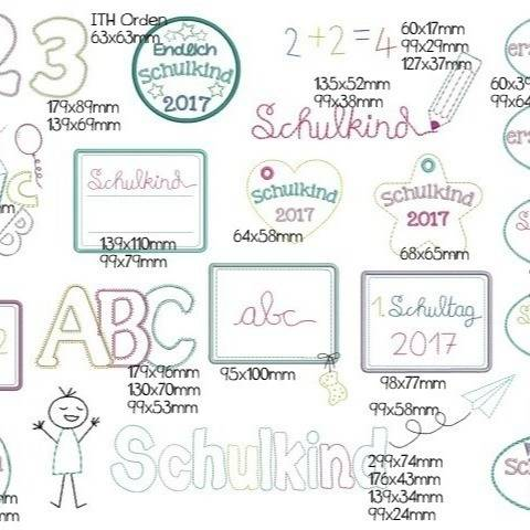 Stickdatei - Schulkind bis 2025 in PES