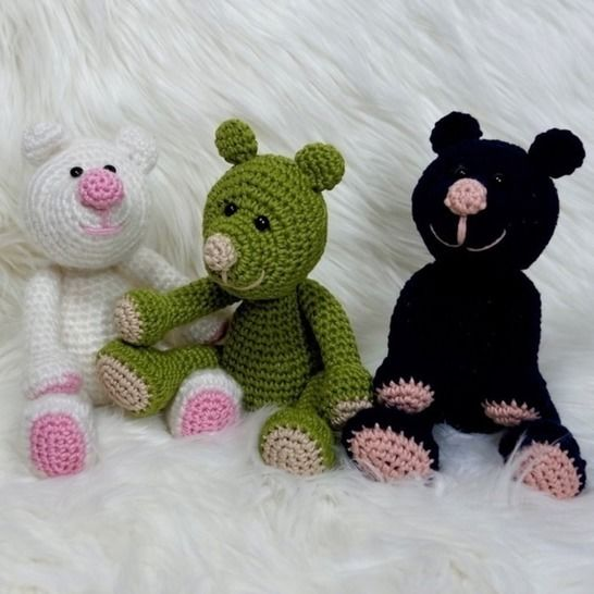 Crochet Pattern Berni The Bear at Makerist - Image 1