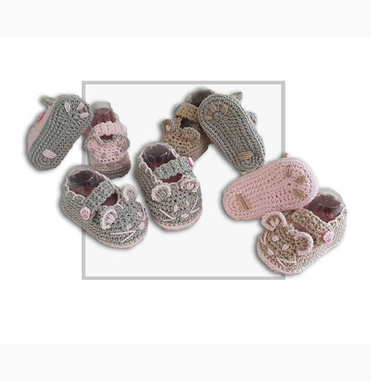 Mouse Crochet Baby Booties at Makerist - Image 1