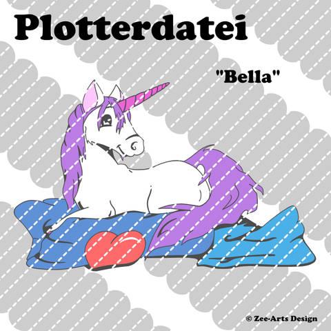 Plotterdatei Bella (Einhorn)