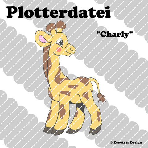 Plotterdatei Charly (Giraffe)