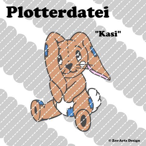 Plotterdatei Kasi (Bunny sitzend)