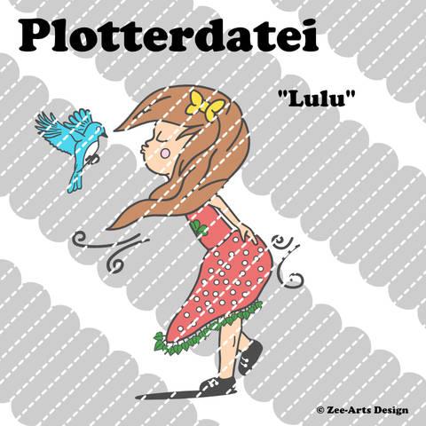 Plotterdatei Lulu (Girl with bird)