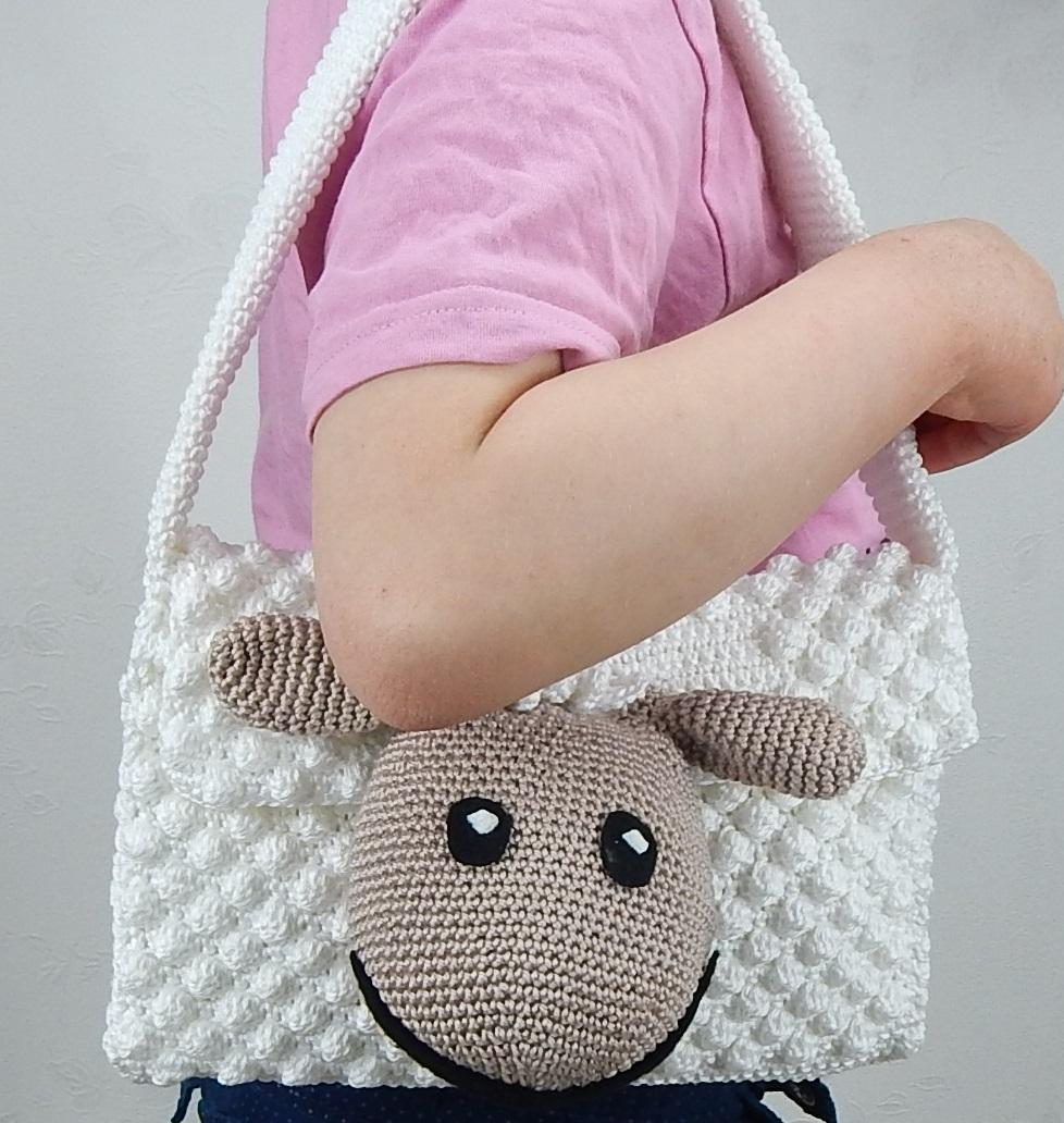 Häkelanleitung Schäfchentasche Kindergartentasche