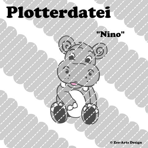 Plotterdatei Nino (Hippo) bei Makerist