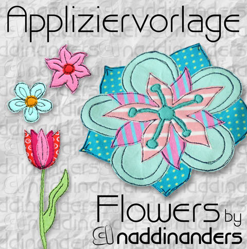 Appliziervorlage Flowers bei Makerist