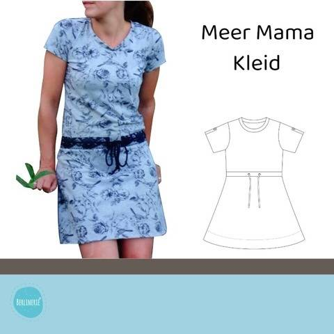 Ebook Meer Mama Kleid Gr. 36-46 + Plotterdateien-SET Anker, Muscheln, Statements