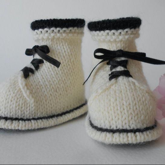 Chaussons Bottines naissance - tutoriel tricot bébé PDF chez Makerist - Image 1