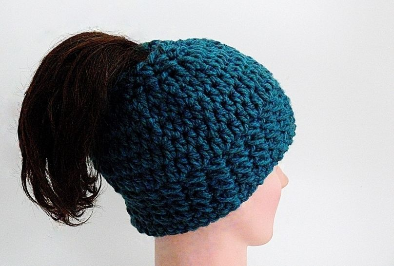 Free Arielle Messy Bun Hat, Chunky Hat, Head Band # 181 at Makerist - Image 1