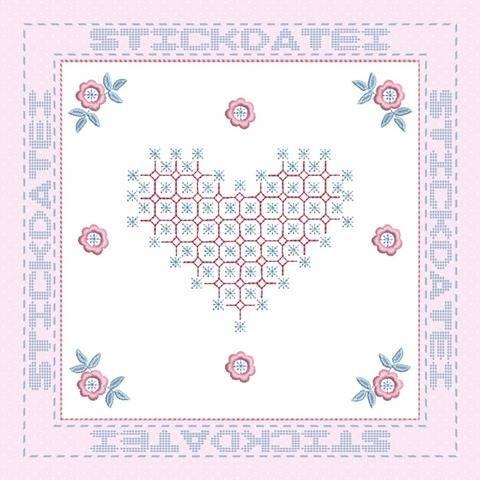 Patch und Blanko 1 für Rag Quilt, 20x20 Stickdatei bei Makerist