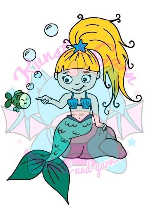Plotterdatei Meerjungfrau