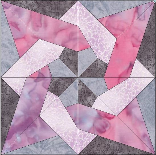 Tangled Star Quilting Template Pattern 10 Inch Block at Makerist - Image 1