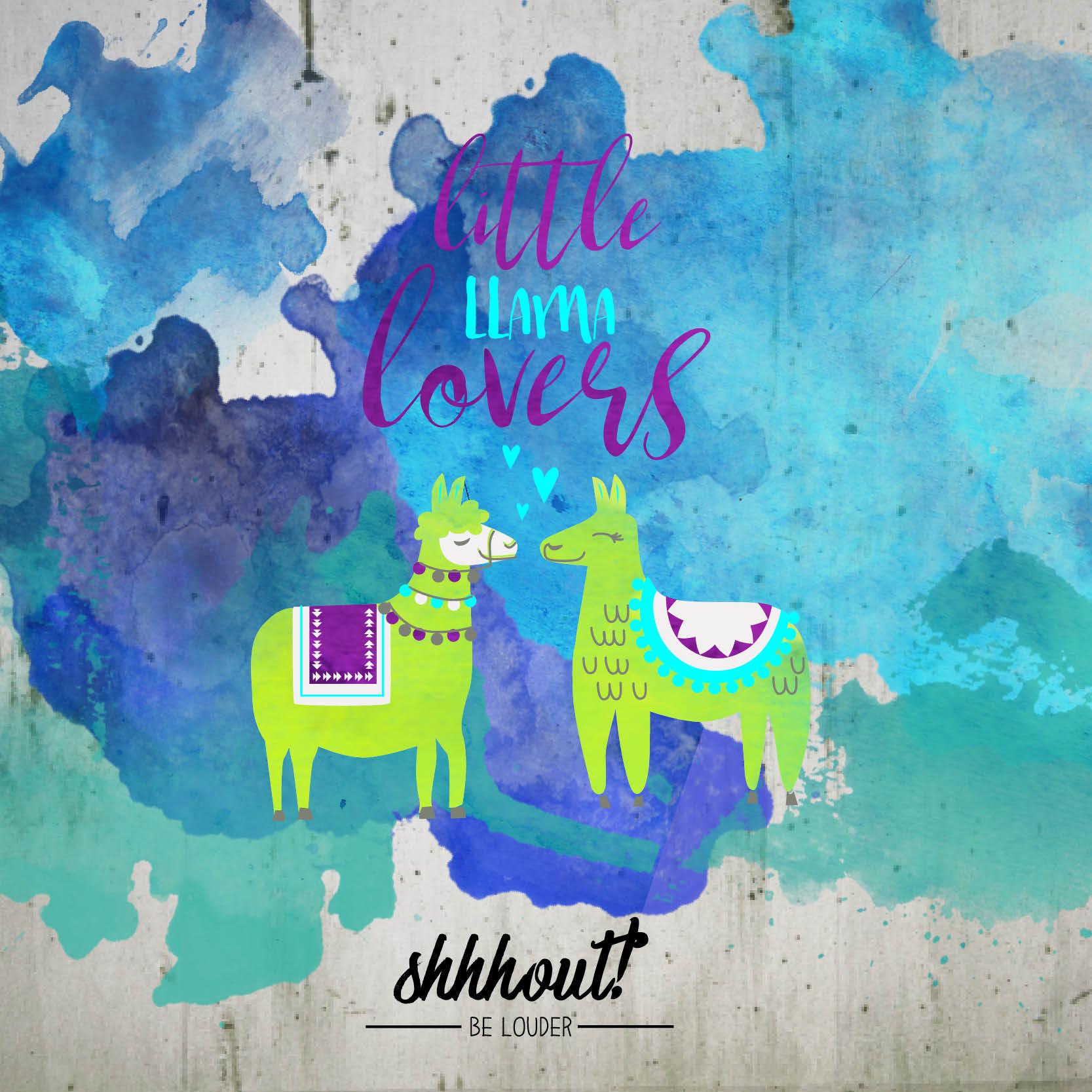 LITTLE LLAMA LOVERS - Plotterdatei
